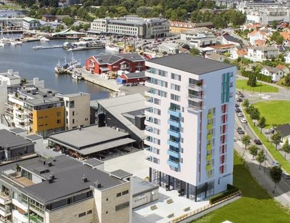Flyfoto av Kilen Brygge